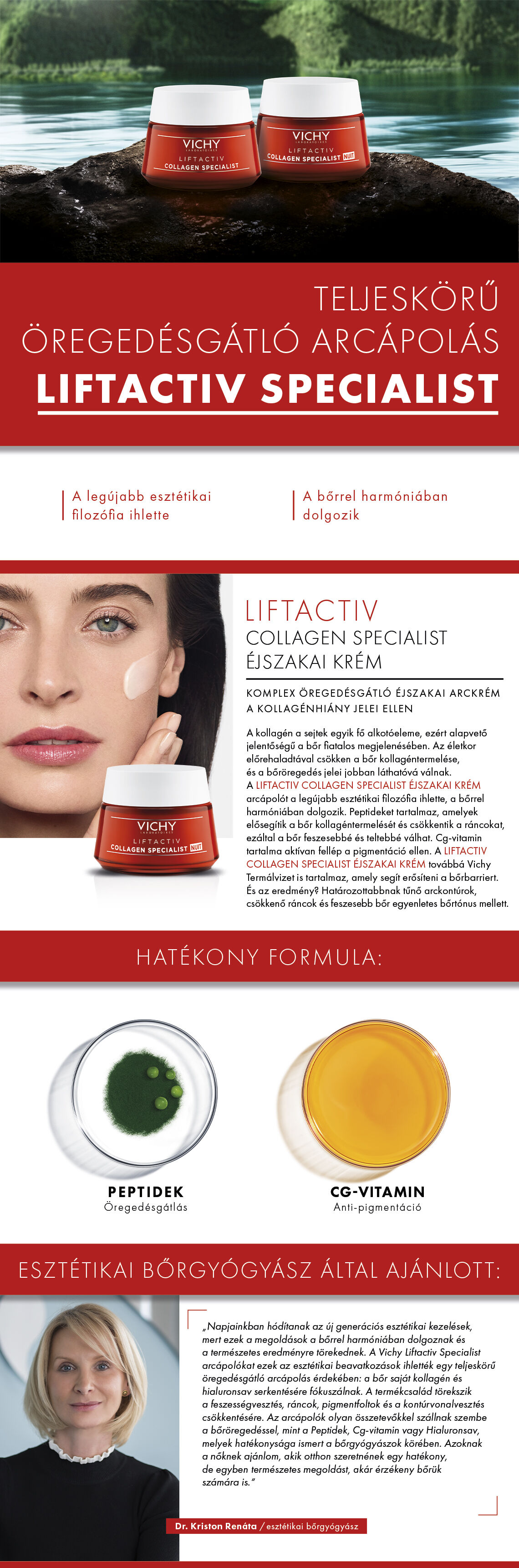 Vichy Liftactiv Collagen Specialist éjszakai arckrém 50ml