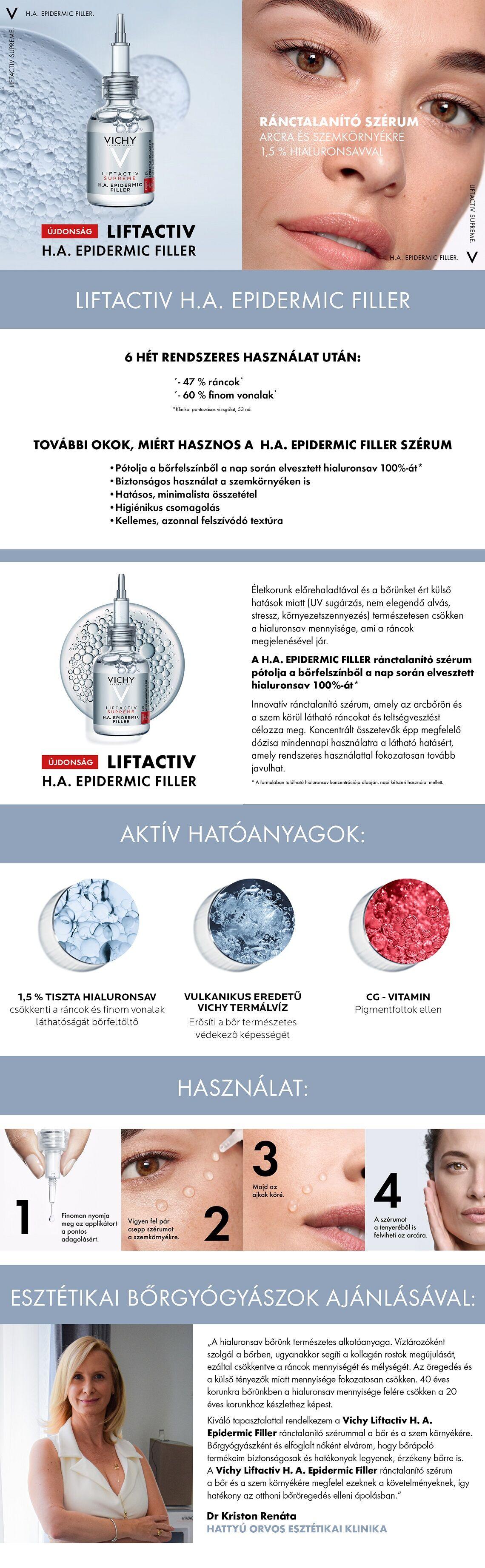 Vichy Liftactiv Supreme H.A. Epidermic Filler szérum 30ml