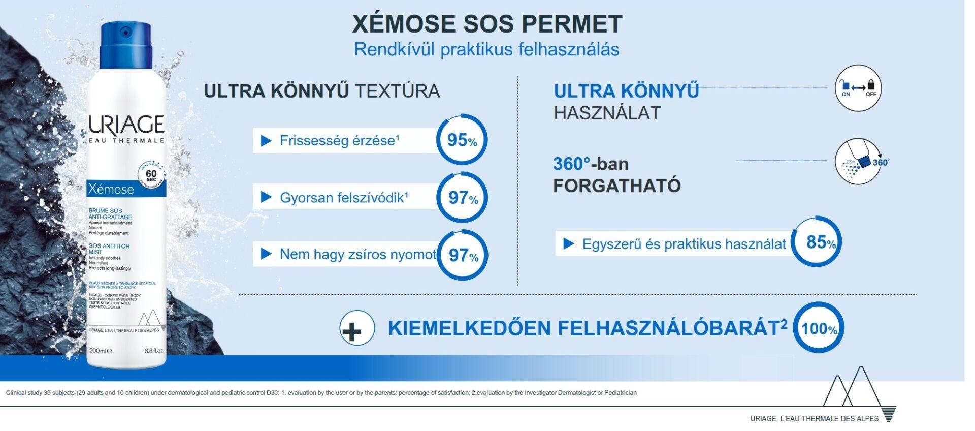 Uriage XÉMOSE SOS permet száraz bőrre 200ml