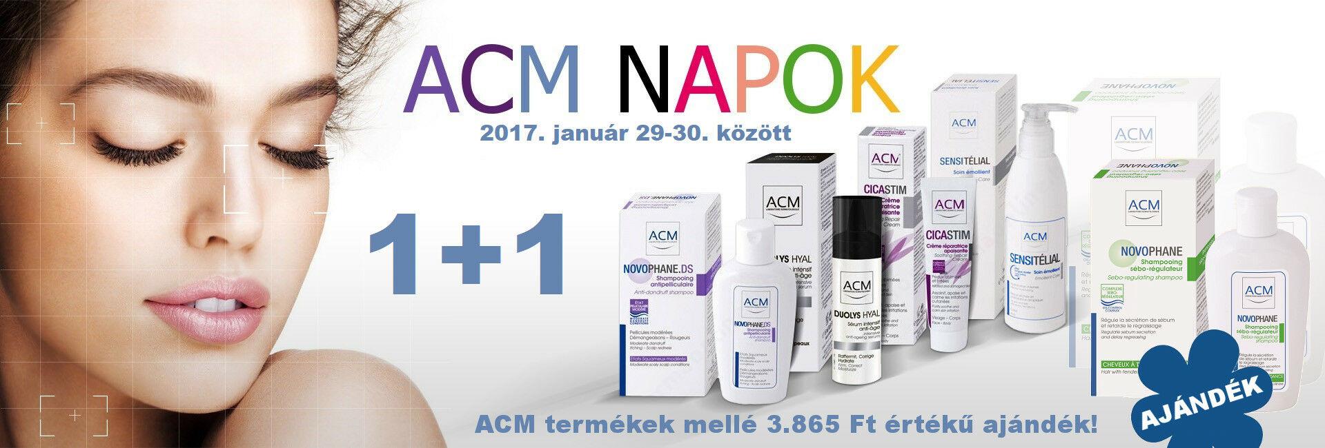 2018. január 29-30. között ACM termékek mellé ajándékba adunk 1db ACM Novophane zsírosodást gátló sampon 200ml-t!
