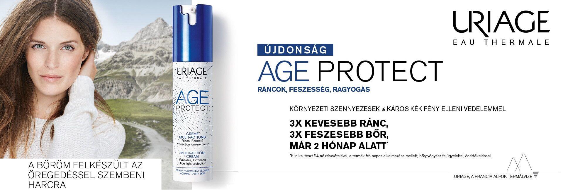 Új innováció az Uriage-tól: itt az Age Protect ránctalanító termékcsalád